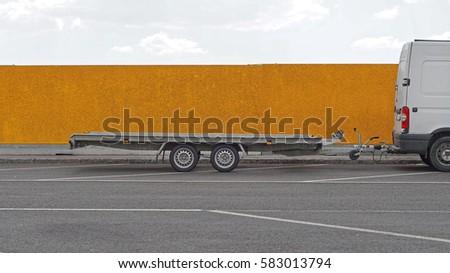 Long trailer for vehicle transport #583013794