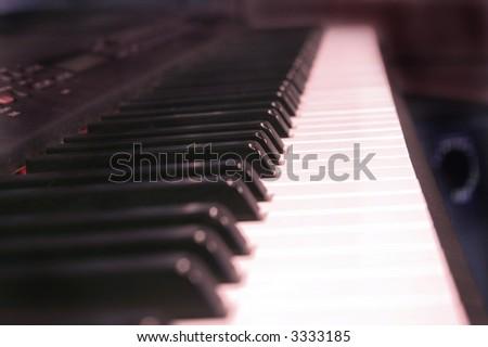 Long View of Keyboard Keys - High Resolution Photograph