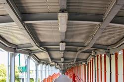 long walkway at station, Thailand