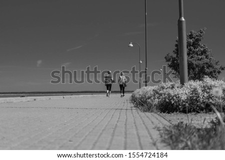 Long way across beautifull lake Сток-фото ©