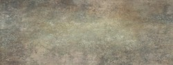 Long wide panoramic background texture in horizontal position.Background with grunge and messy stains and paint blotches, distressed faded wallpaper design with grungy antique texture.