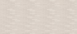 Long wide white beige brick wall texture background. Horizontal panoramic view.