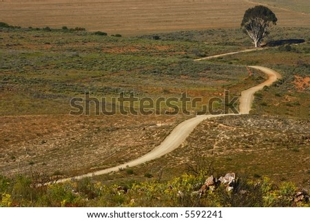Long Winding Dirt Road Going Down Hill Stock Photo 5592241 ...