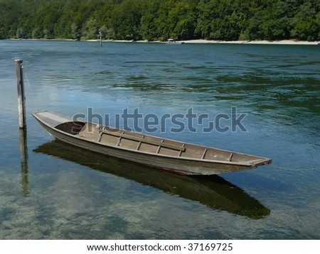 Long Wood Boat on the Rhine River