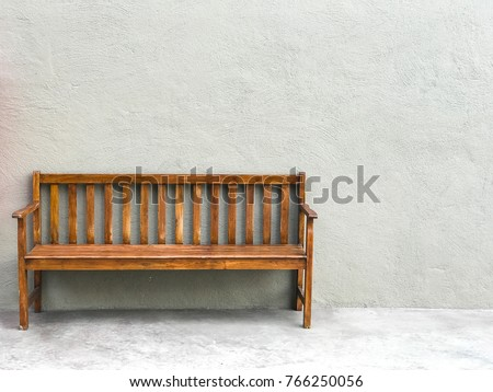 long wood chair.