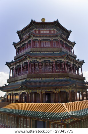 Longevity Hill Tower of the Fragrance of the Buddha Summer Palace Beijing China