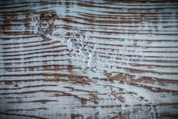 Longstanding natural wooden background top view.