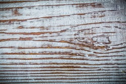 Longstanding natural wooden board horizontal view.