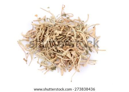 Lonicera japonicaisolated on white backgrounde dried leaves and lonicera japonicaisolated on white backgrounde dried leaves and flowers are employed in mightylinksfo