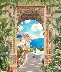 look at Greece through the arch