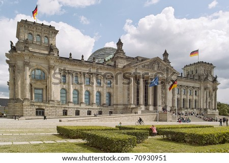 Look at the Berlin Reichstag, seat of the German Bundestag