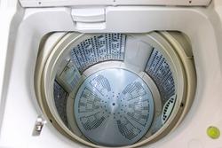 Look inside an washing machine