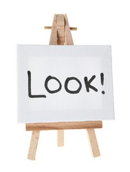 Look!  Note on easel