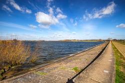 Look out across Alton Water in Suffolk, UK