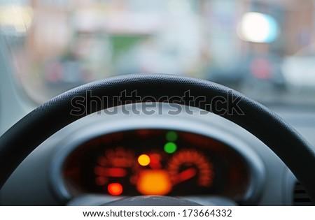 Look  through a car wheel