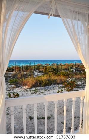 Look through beach house window stock photo 51757603 for Beach house look