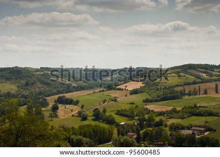 Looking across the French countryside from Cordes-sur-Ciel.