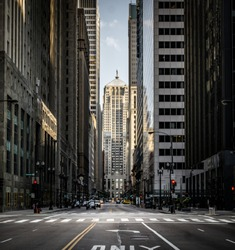 Looking Down an Urban Corridor