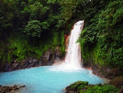 Looking down at Rio Celeste Waterfall.