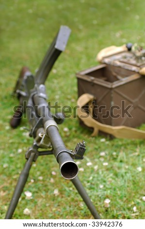 looking down the barrel of a machine gun