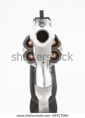 Looking down the barrel of a revolver