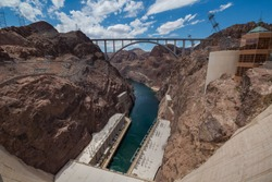 Looking down the Hoover Dam