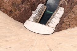 Looking down the Hoover Dam, Nevada/Arizona