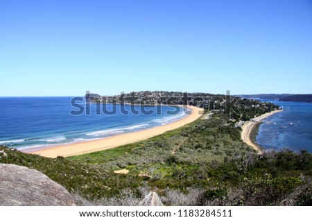 Looking down to the Palm Beach from Barrenjoey headland on the way down from the Lighthouse