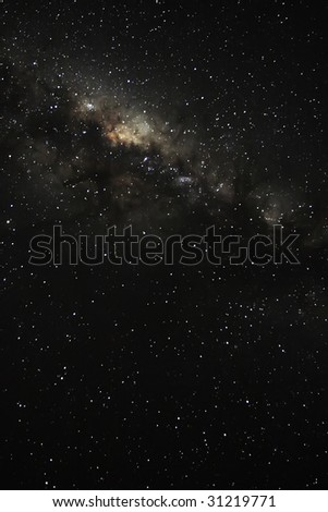 looking into the milky way on a starry night