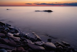 Looking Northwest across Lake Superior on an August evening.