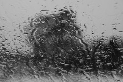 Looking out through a wet windscreen