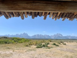 Looking Out to the Grand Tetons From Cunningham Cabin