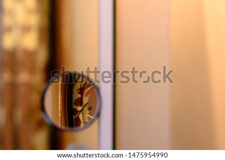 Looking through mirror in mirror  #1475954990