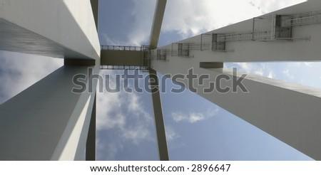 looking up at the bridge ... Libya
