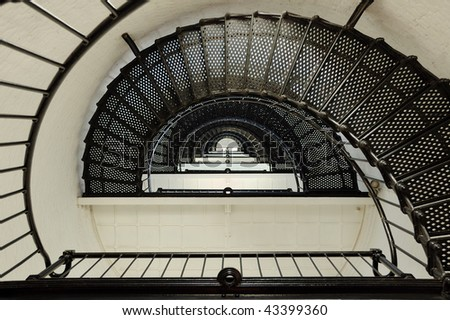 Looking Up Lighthouse Spiral Staircase