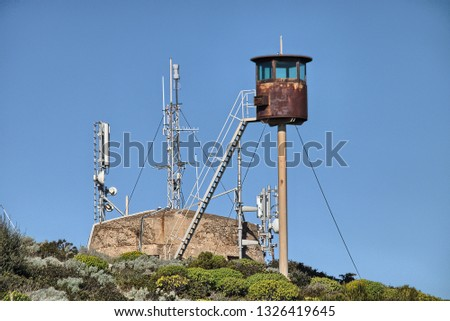 Lookout guard. Military area