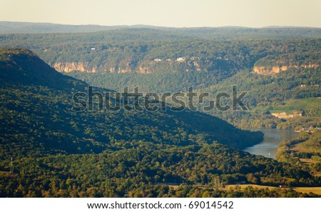 Lookout Mountain view of the Tennessee River Gorge