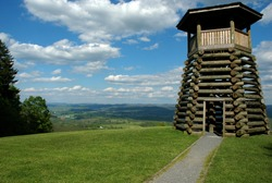 Lookout tower, Droop Mountain Battlefield Park, West Virginia, USA