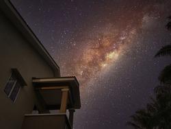 lookup late night sky milky way