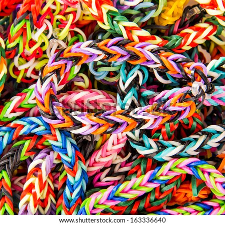 Loom bracelet close up Young fashion concept