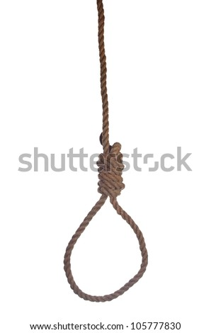 loop of gallows on white background