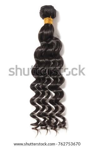 Loose curly black virgin human hair weaves extensions bundle