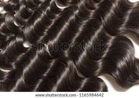 Loose deep curly black human hair weaves extensions bundles