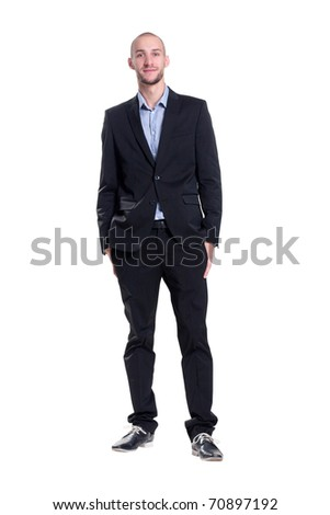 lop-eared attractive young businessman