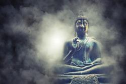 Lord Buddha statue at Colombo, Gangarama temple