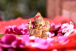 Lord ganesha and rose's