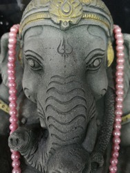 lord ganesha built from stone