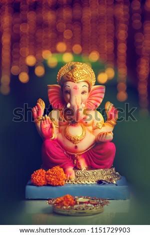 Lord Ganesha , Ganesh festival - Shutterstock ID 1151729903