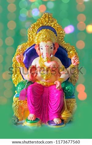 lord ganesha , ganesh festival - Shutterstock ID 1173677560