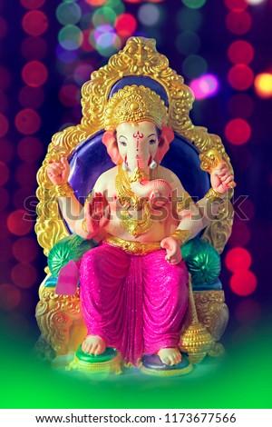 lord ganesha , ganesh festival - Shutterstock ID 1173677566